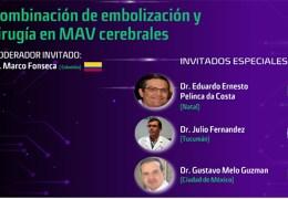 """Miercoles, """"Combinacion de Embolizacion y Cirugia en MAV Cerebrales"""", 7 pm Argentina, 5 pm Mexico, 6 pm Miami"""