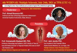 """Saturday, 7 pm Morocco time, """"Existing and Promising New Therapies for Multiple Sclerosis"""" LIVE, HERE"""