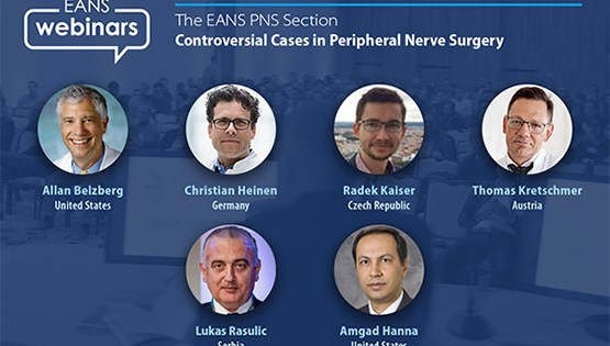 """TUESDAY, 5 pm EST, EANS Online presents, """"Controversial Cases in Peripheral Nerve Surgery"""""""