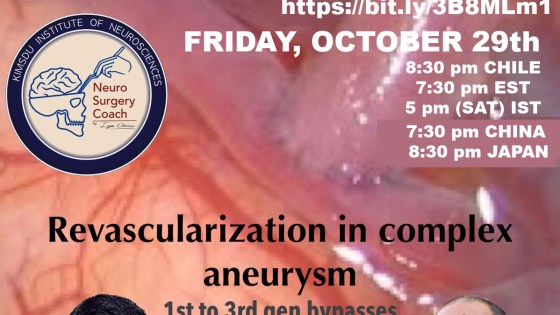 """FRIDAY, 8:30 pm CHILE time, Iype Cherian interviews Jorge Mura MD about """"1st to 3rd Generation Bypasses: Combined Revascularization"""""""