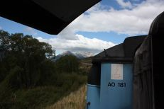 Blick aus dem open-air-Wagen