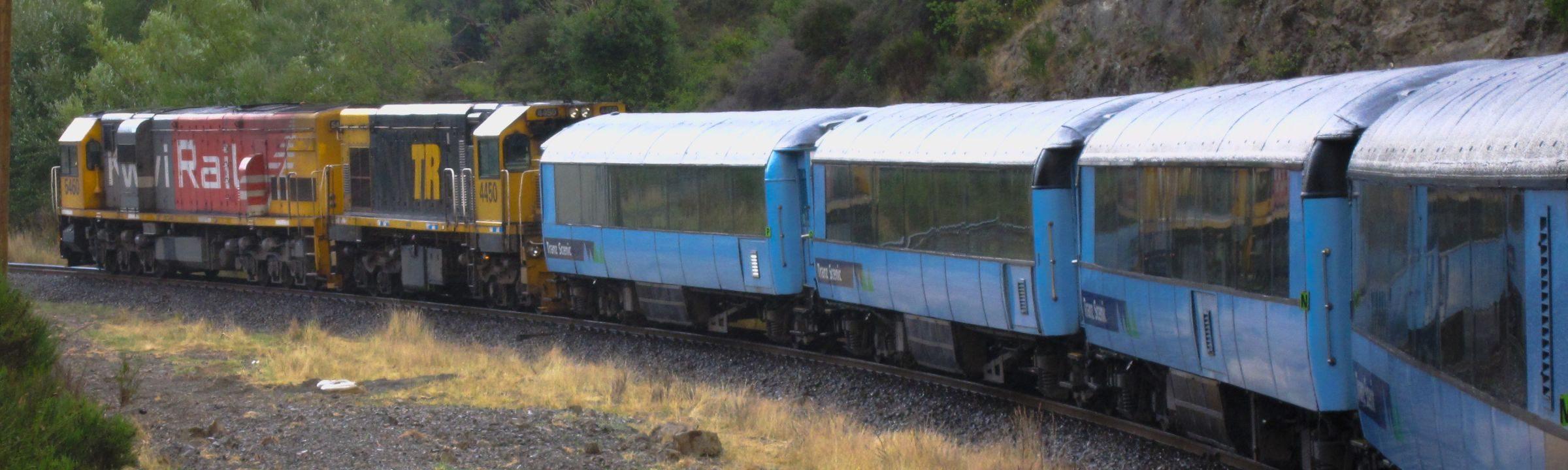 Kiwi Rail unterwegs nach Greymouth
