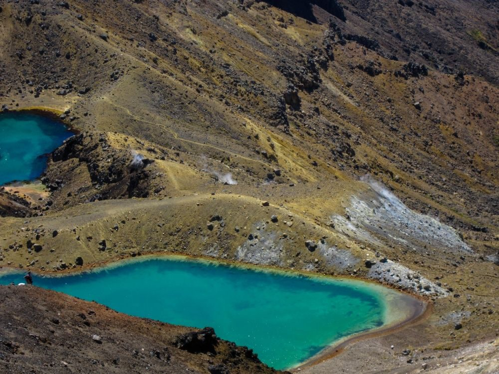 Emerald Lakes am Tongariro Alpine Crossing