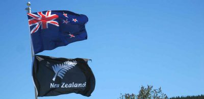 Flaggenauswahl Neuseeland - Union Jack und Kreuz des Südens oder das Farn