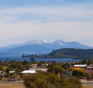 Taupo Town mit herrlichem Ausblick