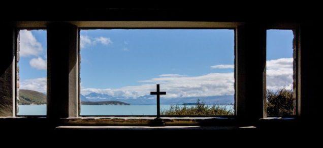 Lake Tekapo mit der Church of Good Shepherd