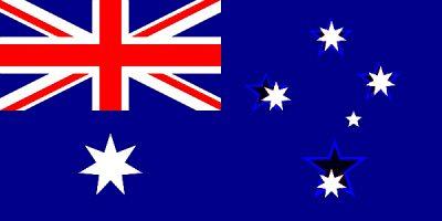Flagge Australiens und Neuseelands im Vergleich