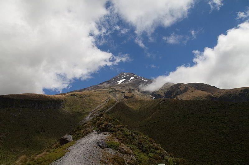 Der Gipfel des Mount Taranaki
