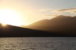 Abendstimmung über Neuseeland
