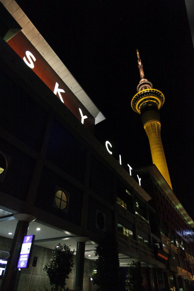 Sky Tower by night