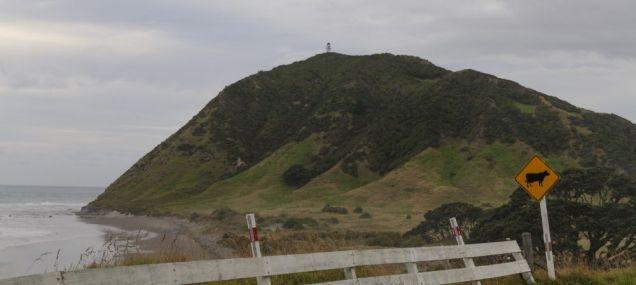 Detailblick - der Leuchtturm vom East-Cape