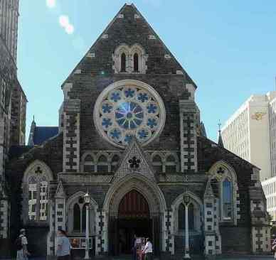 Portal der Kathedrale von Christchurch