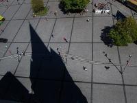 Schattenspiel der alten Katehdrale von Christchurch