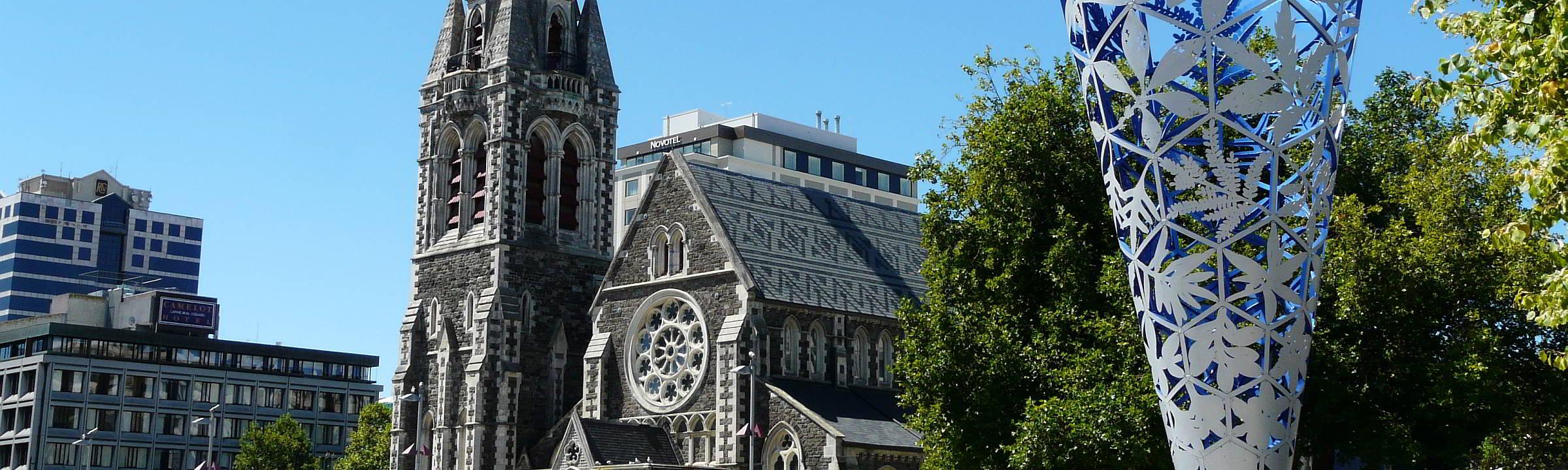 die alte Kathedrale von Christchurch Neuseeland