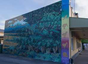 Wandbild an der Hauptstraße