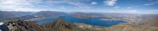 Blick auf Lake Wanaka vom Roys Peak Track aus