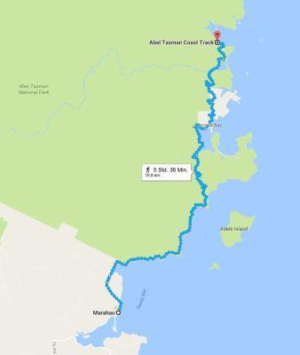Wanderung auf dem Abel Tasman Coast Track
