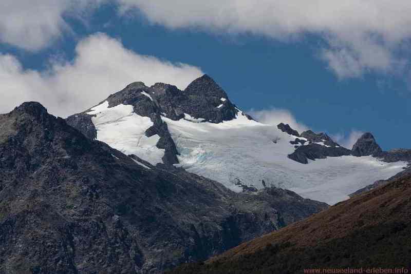 Blick in die Berge vom Haast Pass Lookout