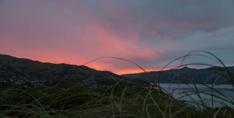 Sonnenuntergang auf der Banks Peninsula