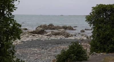 Kaikoura Neuseeland - Blick auf das Meer vom Dorf aus.