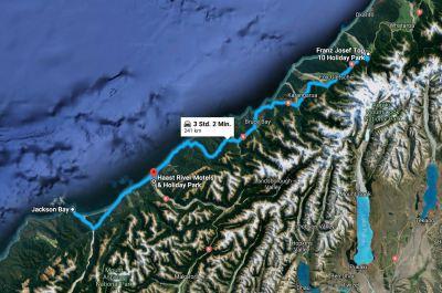Weg vom Franz Josef Gletscher nach Haast