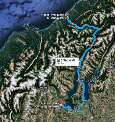 Weg von Haast nach Wanaka