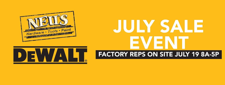 Dewalt July Sale Event