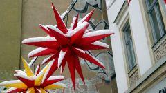 winterlicher Weihnachtsstern