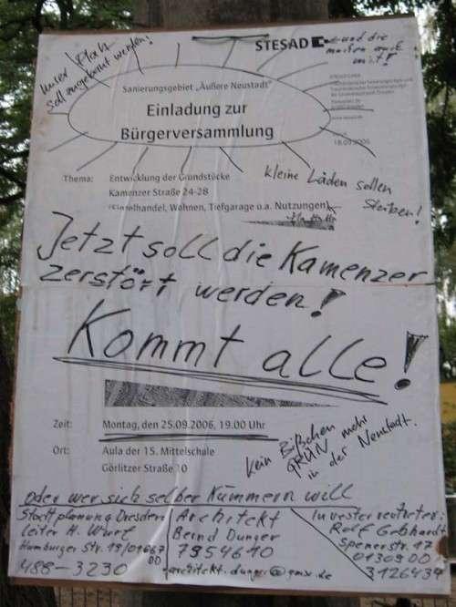 missbrauchtes Plakat