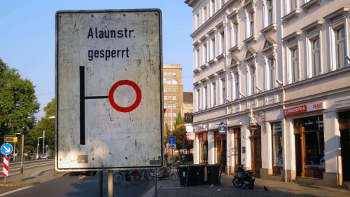 Alaunstraße gesperrt? Anklicken, um das Bild zu vergrößern.
