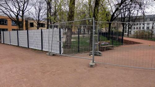 """Sichtschutz am Kindergarten """"Alaunkids"""""""