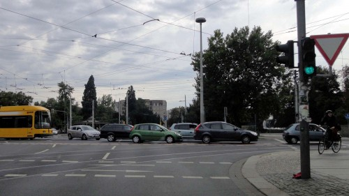 Albertplatz am Nachmittag ...