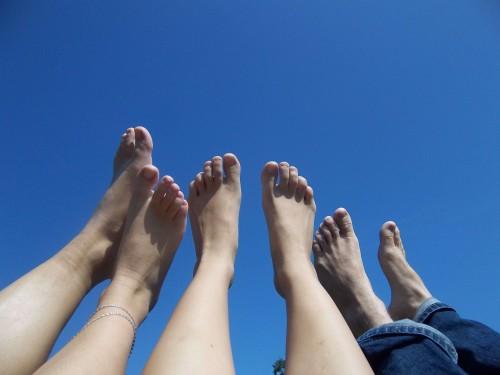 bare Füße - etwas für Verrückte?