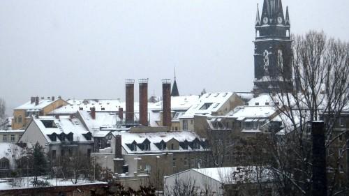 Blick zur Martin-Luther-Kirche - anklicken, um das Bild zu vergrößern.