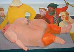 Abbildung: Danny Linwerk, »Shanty«, 2012, Öl auf Baumwollgewebe