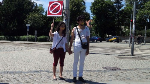 Mini-Demo am Albertplatz