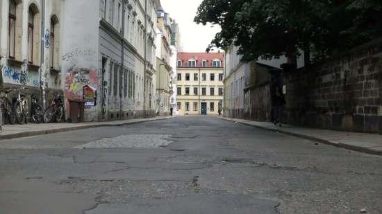 Autofrei gibt es in der Neustadt immer für drei Tage im Jahr zur BRN - hier die Pulsnitzer Straße 2013