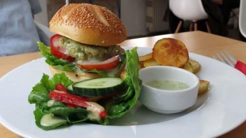 Flax-Burger, frei von Fleisch