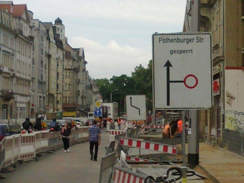 """""""Pothenburger gesperrt"""" - gesehen und festgehalten von Frank. Danke"""
