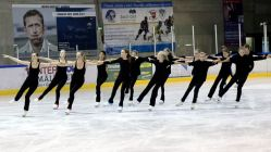 Die Saxony Ice Pearls beim Training - Foto: Claudia Gallwitz