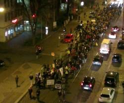 Demonstration für eine schlanke Königsbrücker. Foto: Daniel