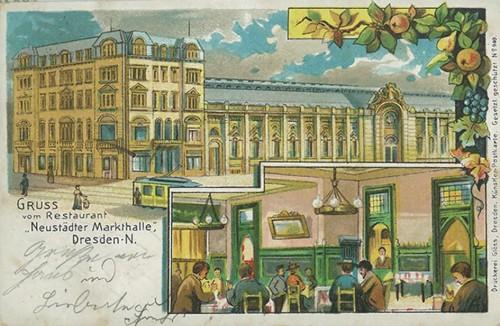 die Markthalle um 1900