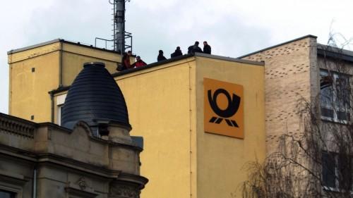 Begehung des Post-Dachs Anfang Dezember
