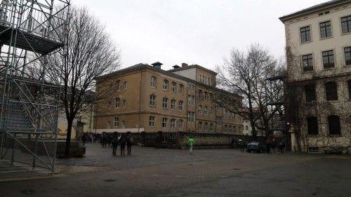 Schulhof des Gymnasiums Dreikönigschule