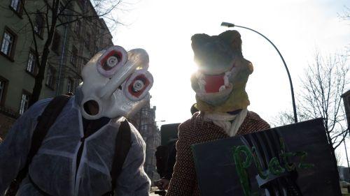 Manche Demonstrationsteilnehmer waren von weither angereist.