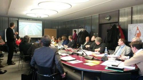 Dem Bauausschuss wird das Globus-Projekt präsentiert.