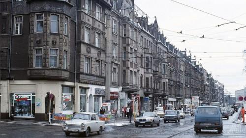 Seit mehr als 20 Jahren fast unverändert, die Königsbrücker Straße. Foto: Archiv - Lothar Lange