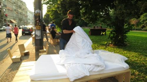 Betten am Alaunplatz im Juli 2013