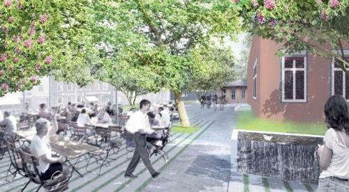 Visualisierung Biergarten vom Mai 2012, r+b  landschafts architektur