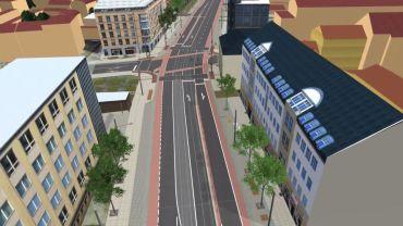 Linksabbiegen wird künftig in die Louisen- und die Lößnitzstraße möglich sein.